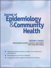 Journal of Epidemiology and Community Health: 66 (10)