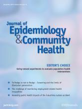 Journal of Epidemiology and Community Health: 66 (12)
