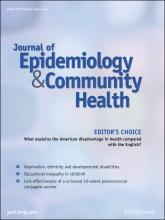 Journal of Epidemiology and Community Health: 66 (3)