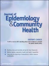 Journal of Epidemiology and Community Health: 66 (5)