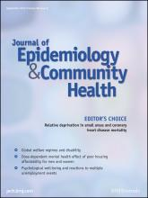 Journal of Epidemiology and Community Health: 66 (9)