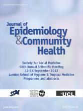 Journal of Epidemiology and Community Health: 66 (Suppl 1)