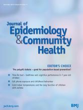Journal of Epidemiology and Community Health: 67 (11)