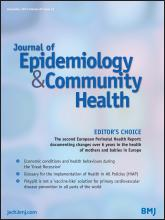 Journal of Epidemiology and Community Health: 67 (12)