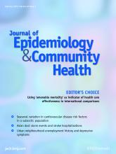 Journal of Epidemiology and Community Health: 67 (2)