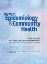 Journal of Epidemiology and Community Health: 67 (3)
