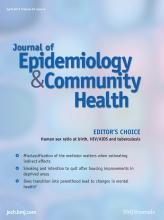Journal of Epidemiology and Community Health: 67 (4)