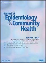 Journal of Epidemiology and Community Health: 67 (6)