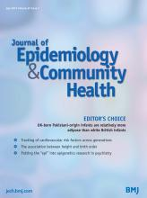 Journal of Epidemiology and Community Health: 67 (7)