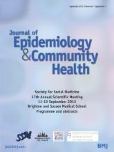 Journal of Epidemiology and Community Health: 67 (Suppl 1)