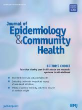 Journal of Epidemiology and Community Health: 68 (10)