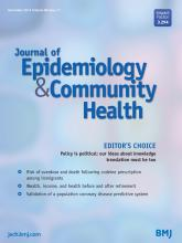Journal of Epidemiology and Community Health: 68 (11)