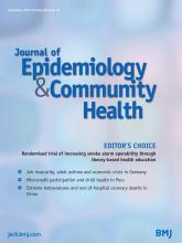 Journal of Epidemiology and Community Health: 68 (12)