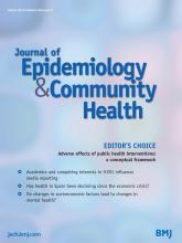 Journal of Epidemiology and Community Health: 68 (3)