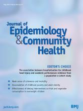 Journal of Epidemiology and Community Health: 68 (5)