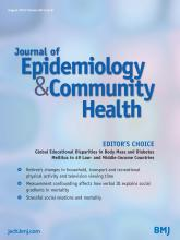 Journal of Epidemiology and Community Health: 68 (8)