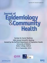 Journal of Epidemiology and Community Health: 68 (Suppl 1)