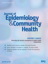 Journal of Epidemiology and Community Health: 69 (1)