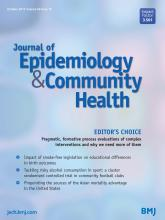 Journal of Epidemiology and Community Health: 69 (10)