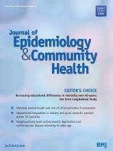 Journal of Epidemiology and Community Health: 69 (12)