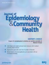 Journal of Epidemiology and Community Health: 69 (2)