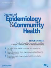 Journal of Epidemiology and Community Health: 69 (3)