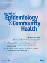Journal of Epidemiology and Community Health: 69 (5)