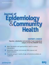 Journal of Epidemiology and Community Health: 69 (7)