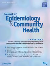 Journal of Epidemiology and Community Health: 69 (9)
