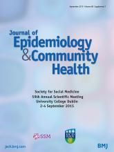 Journal of Epidemiology and Community Health: 69 (Suppl 1)
