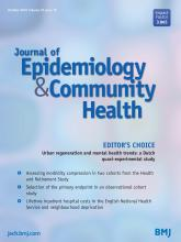 Journal of Epidemiology and Community Health: 70 (10)