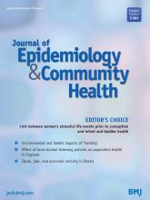 Journal of Epidemiology and Community Health: 70 (3)