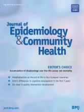 Journal of Epidemiology and Community Health: 70 (5)