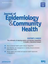 Journal of Epidemiology and Community Health: 70 (7)