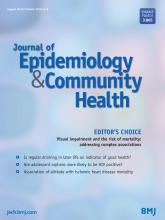 Journal of Epidemiology and Community Health: 70 (8)