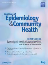 Journal of Epidemiology and Community Health: 70 (9)