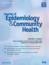 Journal of Epidemiology and Community Health: 71 (2)