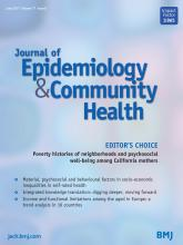 Journal of Epidemiology and Community Health: 71 (6)