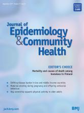Journal of Epidemiology and Community Health: 71 (9)