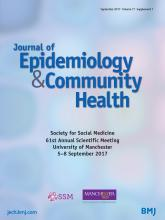 Journal of Epidemiology and Community Health: 71 (Suppl 1)