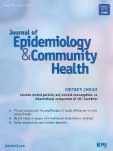 Journal of Epidemiology and Community Health: 72 (1)