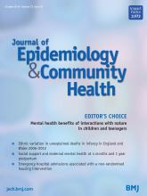 Journal of Epidemiology and Community Health: 72 (10)