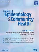 Journal of Epidemiology and Community Health: 72 (2)