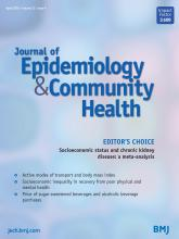 Journal of Epidemiology and Community Health: 72 (4)