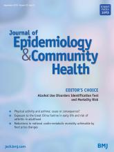 Journal of Epidemiology and Community Health: 72 (9)