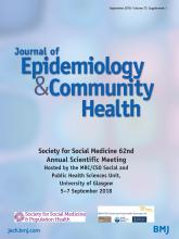 Journal of Epidemiology and Community Health: 72 (Suppl 1)