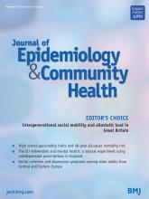 Journal of Epidemiology and Community Health: 73 (2)