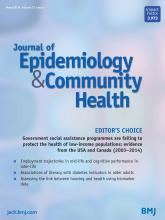 Journal of Epidemiology and Community Health: 73 (3)