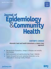 Journal of Epidemiology and Community Health: 73 (4)