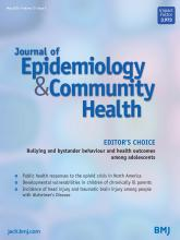 Journal of Epidemiology and Community Health: 73 (5)